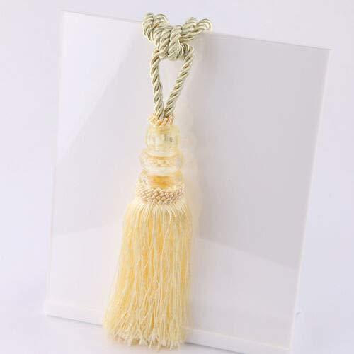 FidgetKute New Curatin Tiebacks Chic Bedroom Tassel Tie Backs Window Drape Holdbacks 2PCs Cream-Coloured One Size