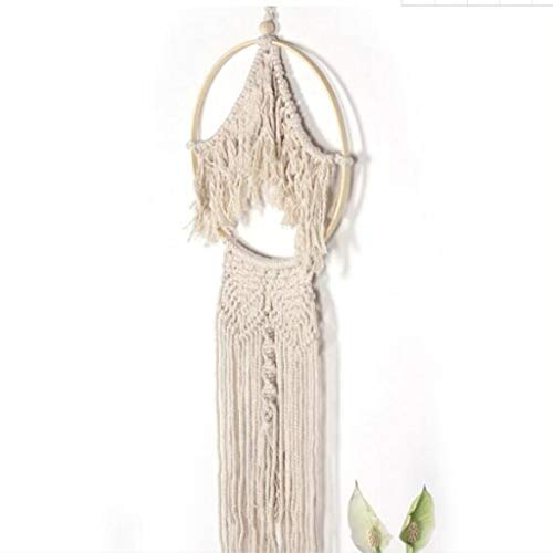 (Tapestry Bamboo Circle Woven Tassel Home Wall Decoration Pendant Wall Balcony Decoration Nordic Style)