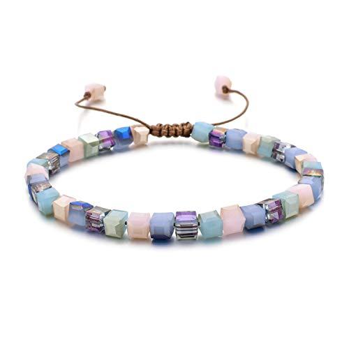 (New Fashion Style Woman Bracelet Wristband Glass Crystal Bracelets Gifts Jewelry Accessories Handmade Wristlet Trinket,4)