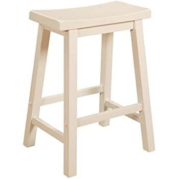 Amazon Com Powell Color Story Counter Stool Pure White