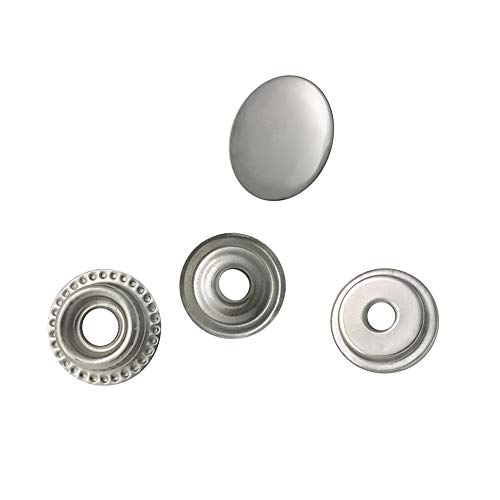80 Pieces Stainless Steel Fastener Snap Set, Include Button Stud Socket and Eyelet