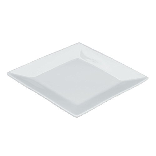 Green Direct 6.5 Inch Square Plates / White Party Dessert Plates Pack of 10 (Chevron Blue Dessert Plates)