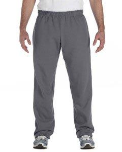 By Gildan Gildan Adult Heavy Blend 8 Oz, 50/50 Open-Bottom Sweatpants - Charcoal - S - (Style # G184 - Original Label)