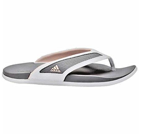 Adidas Adfle Cf + Damesflat Sandalen Wit / Roze