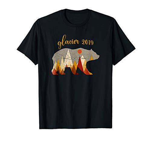 Vintage Glacier National Park Grizzly Bear 2019 T-Shirt T-Shirt