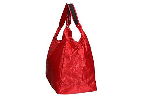 VV290 épaule porté LAURA plage L fermeture Sac mer rouge femme zip BIAGIOTTI qxT4wP