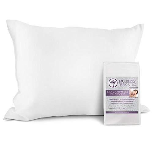 (Pure Silk Pillowcase - White Standard Size (20