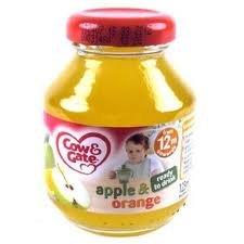 Cow & Gate 4 Month Pure Apple & Orange Juice 125g