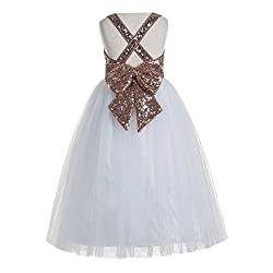 Crossed Straps A-Line Junior Flower Girl Dresses
