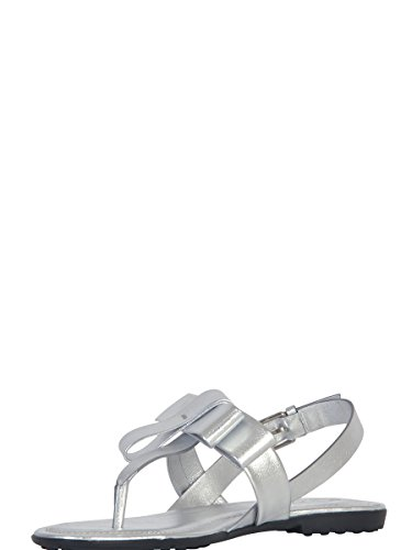 TOD'S FEMME XXW0OV0Q230SV0B200 ARGENT CUIR SANDALES