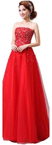Rot Rot Kleid Bandeau Drasawee Damen 8qwxzvnZ