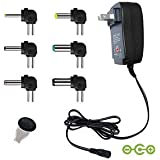 Universal Power AC Adapter 30W 3V-12V Regulated Multi Switching Replacement Power Adapter Transformer Adjustable Voltage Control for Household Electronics and Other Rechargeable Devices