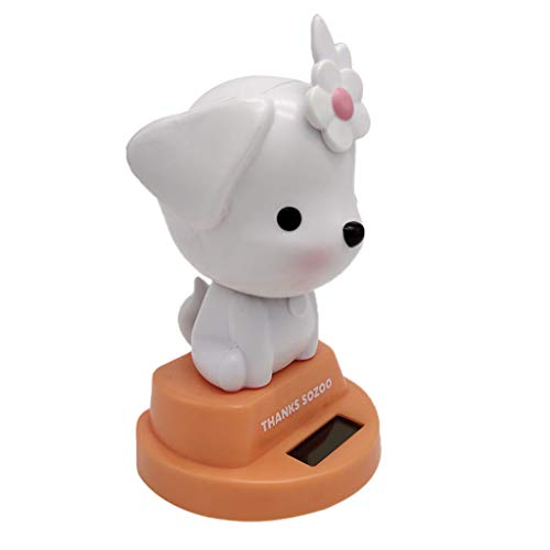 Flameer Solar Powered Bobbing Animal Flower Dog Pet Doll Figure Fun Solar Science Toy Home Desktop Car Decor Bobbleheads Animal Pet Model