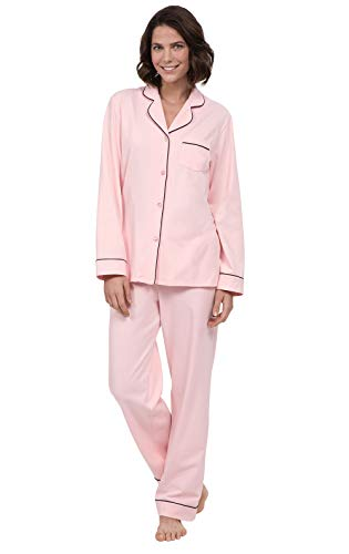 PajamaGram Womens Pajamas Set Soft - Pink Pajamas for Women, Pink, M, 8-10