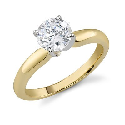 Diamond-Solitaire-CZ-Ring-14K-Yellow-Gold