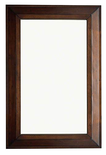 (James Martin Vanities 28 in. Mirror in Burnished Mahogany Finish)