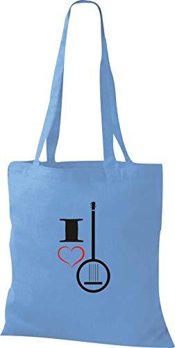 Mujer Bolso De Azul Claro Tela Algodón Para Shirtstown Rf1qpA