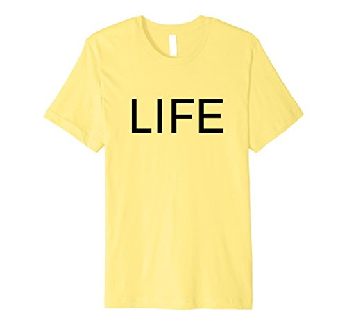 Mens Life T-Shirt Premium XL Lemon