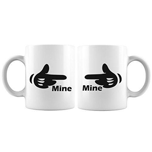 Mine Mine Matching Mugs White 11Oz Matching Gifts for Couple