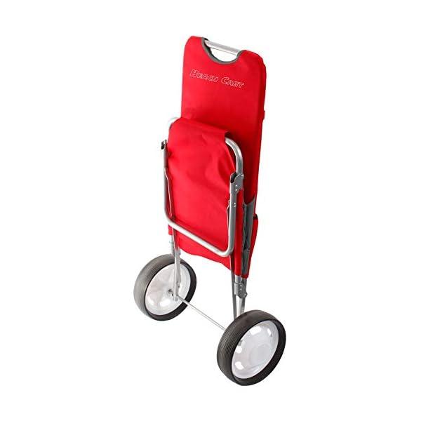 BRUNNER Beach Cart Rosso, Carrello da Spiaggia e Mare 2 spesavip