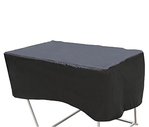 PATIOROMA Patio Waterproof Rectangular Coffee/Side/End Table/Ottoman Cover, Black by PATIOROMA