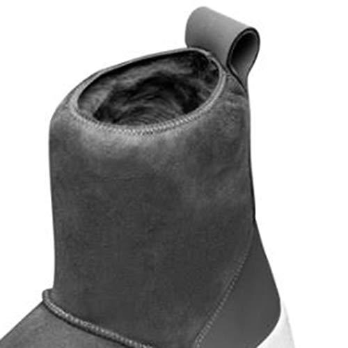 Pelliccia Antiscivolo Trekking color Outdoor Invernali Casual Da Camping Impermeabili Snow One Stivali Scarpe 38 Donna E Size Gray Boots Caldi Gray Yq5fS