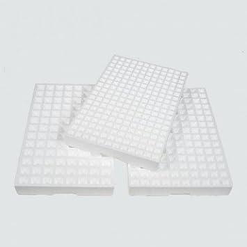 Pack de 8 Semilleros de corcho blanco para 104 plantas, bandejas de germinación de semillas