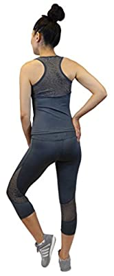 Women's Activewear 2-Piece Set Fitted (S-M-L-XL) Sheer Lace Top and Bottom