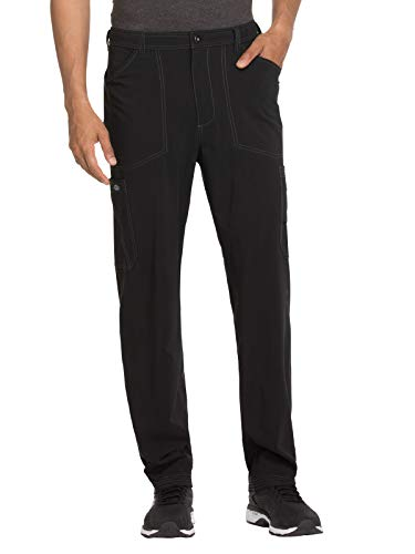 - Dickies Advance Solid Tonal Twist Men's Straight Leg Zip Fly Cargo Pant (Black, X-Large)