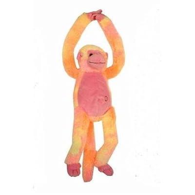 20 Pouces jaune/Orange longs bras singe fou avec Sound et mains Velcro (K52)