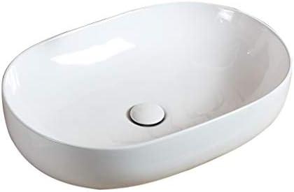 WJ 洗面台 バスルームの洗面台、楕円形のセラミック上記カウンタ(タップなし)流域単純な家庭用技術流域単一流域、利用可能な2つのサイズ /-/ (Size : 59X40X15cm)