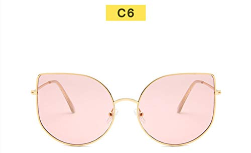 Fashion Women Cat Eye Sunglasses Mirrored Shades Vintage Cat Eye Sun Glasses Classic Transparent Clear Lens Spectacle Frames,C6 Pink (Frames 2015 Spectacle)
