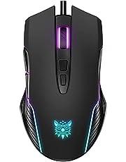 Mouse Gamer RGB, 7 Botões Programáveis e Até 6400 DPI -Preto