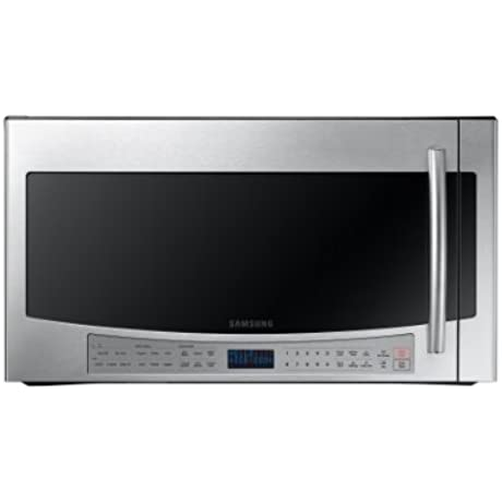 Samsung ME21F606Over The Range Microwave With Sensor Cooking 2 1 Cubic Feet