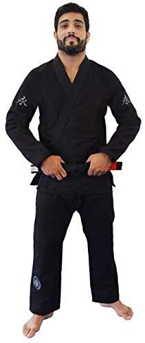 Kimono Jiu Jitsu Balance Keiko Unissex, Preto, A2L