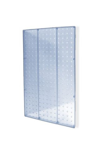 Lot of 2 New Clear Molded Plastic 13.5'' Width x 22'' High Pegboard Wall Panels by Pegboard