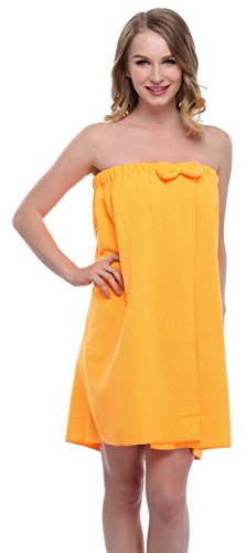 ExpressBuyNow Spa Bath Towel Wrap For Ladies, 10 Colors-Yellow