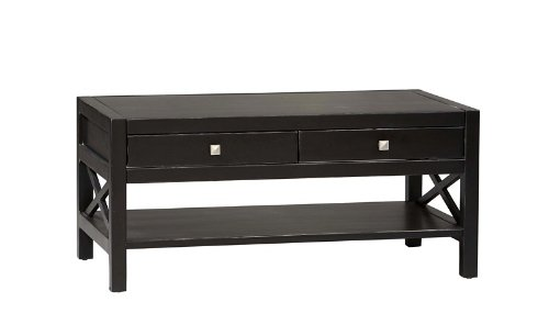 Coffee Table in Antique Black Finish - Linon Living Room Coffee Table