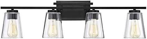 Savoy House 8-1020-4-BK Calhoun Vanity, 4-Light Total 480 Watts, Black
