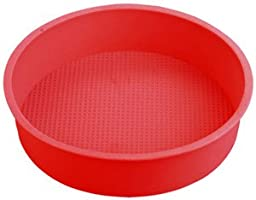 9'' Round Silicone Cake Mold Pan (9'' round x 2 1/4'' deep - colors may vary)