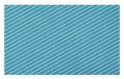 Ambesonne Geometric Doormat, Diagonal Striped Pattern Mediterranean Cruise Colors Ocean Travel Adventure, Decorative Polyester Floor Mat with Non-Skid Backing, 30 W X 18 L Inches, Pale Blue -