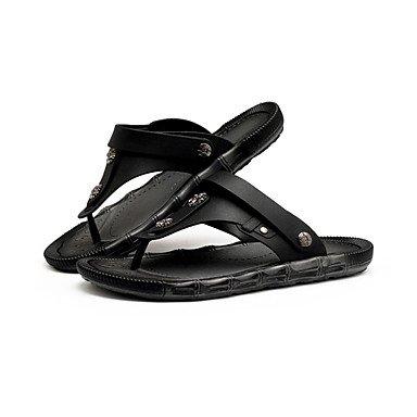 SHOES-XJIH&Donna pantofole & flip-flops Estate Peep toe PU Casual tacco piatto altri Nero / Giallo / Bianco / Oro altri,Golden,US7.5 / EU38 / UK5.5 / CN38