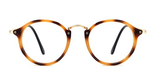 TIJN Vintage Round Non-Prescription Eyewear Eyeglasses or - Eyeglass Eyeglasses Or