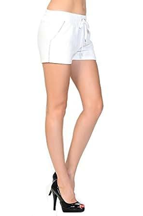 Sydney Rhinestone Trimmed Sweatpants, White, Small