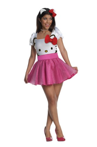 Cartoon Based Halloween Costumes (Secret Wishes Womens Hello Kitty Costume, Pink, Small)