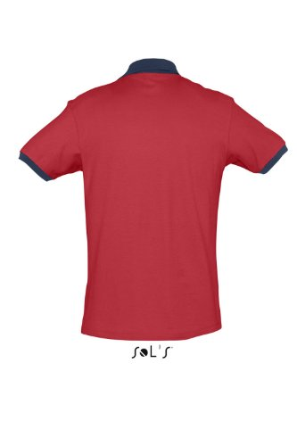 SOL´S Polo Prince, Größe:L, Farbe:Red/French Navy