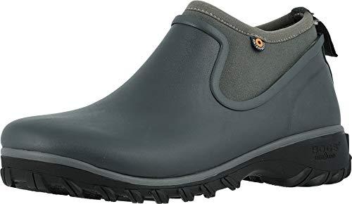 BOGS Women's Sauvie Slip On Boot Garden Boots Dark Gray 8 (Bogs Ankle Boots)