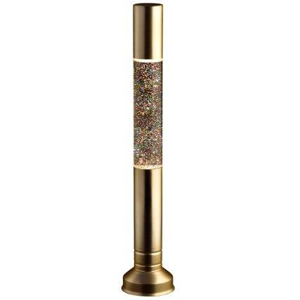 Flat Top Glitter Floating Lava Lamp - Gold Choicefullbargain