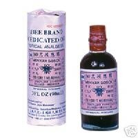 Bee Marque - Minyak Gosok Medicated Oil (analgésique topique) (3 Fl. Oz -... 90 ml) (produit Solstice d'origine) - 6 Bouteilles