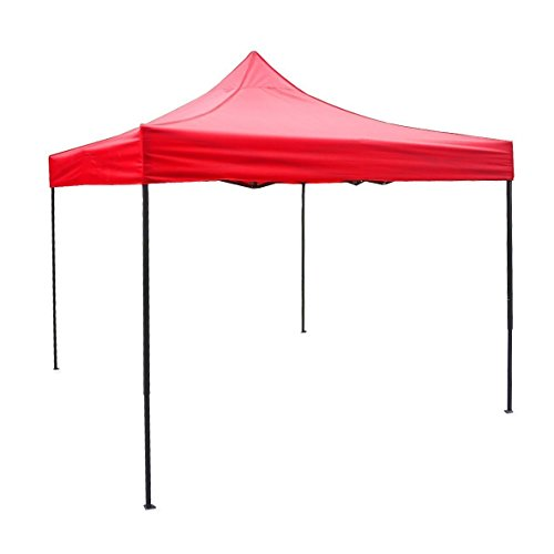 American Phoenix Tent 10×10 foot Red Party Tent Gazebo Canopy Commercial Fair Shelter Car Shelter Wedding Party Easy Pop Up – Red